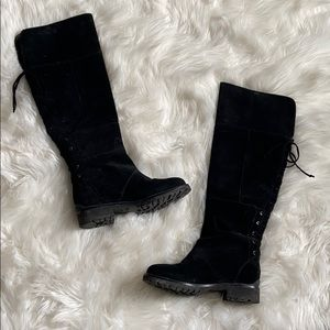 Nine West• Black Suede Knee high boots